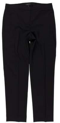 Theory Virgin Wool Mid-Rise Straight-Leg Pants