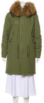 Mr & Mrs Italy Fur-Trimmed Short Coat w/ Tags