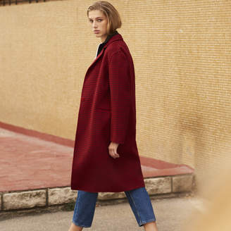 Sandro Wool coat with checked print