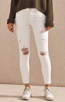 PacSun Italic White Perfect Fit Jeggings
