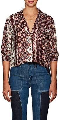 Icons Women's The Draper Medallion-Pattern Pajama Blouse