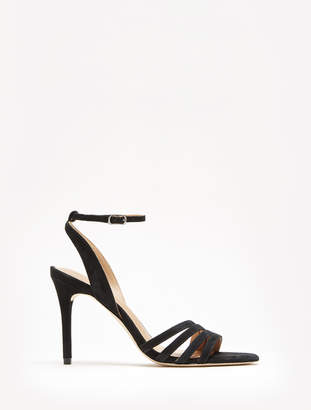 5b912f13e05cfb Halston Kelly Suede Ankle Strap Heel Sandal
