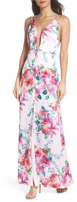 Fame & Partners The Rylee Floral Strappy Gown