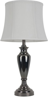Decor Therapy Steel Black Nickel Table Lamp
