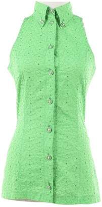 Versus Green Cotton Top for Women