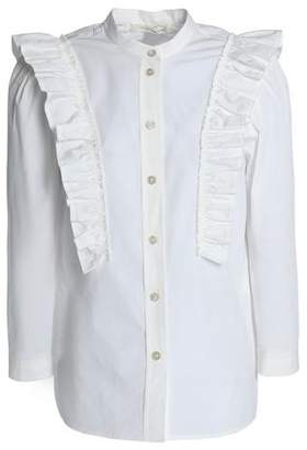 Buy Cheap Outlet Buy Cheap Wide Range Of Marc Jacobs Woman Ruffle-trimmed Cotton-blend Poplin Shirt White Size 4 Marc Jacobs Sale Comfortable Low Shipping Fee Online Sale Very Cheap 8cO15la
