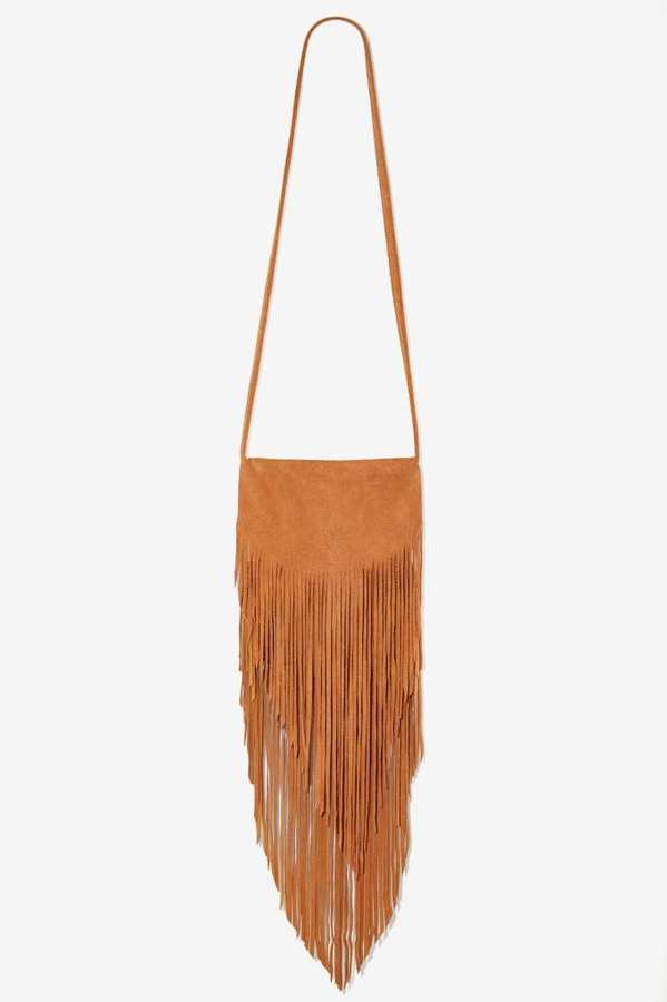 Factory Bad Moon Rising Leather Fringe Bag - Brown
