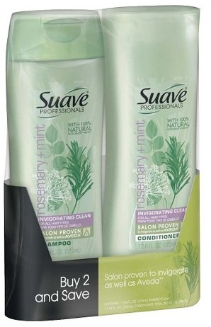 Suave Rosemary Mint Shampoo and Conditioner 12.6 oz, Pack of 2