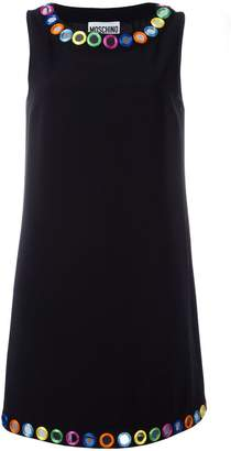Moschino mirror embroidered shift dress