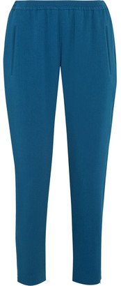 Stella McCartney - Tamara Stretch-crepe Track Pants - Azure $650 thestylecure.com
