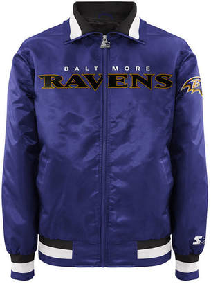 G-iii Sports Men Baltimore Ravens Starter Captain Ii Satin Jacket