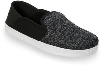 Dearfoams Men's Knit Fold-Down Closed Back Slippers