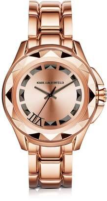 Karl Lagerfeld Iconic Rose Glod Stainlees Steel Unisex Watch