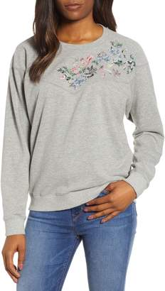 Lucky Brand Floral Pullover