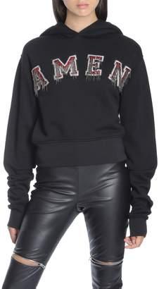 Amen Jsw18202 Cropped Sweatshirt W Embr009