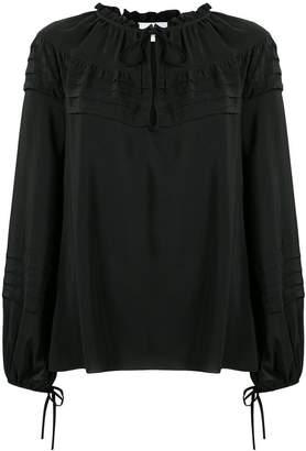 Dondup ruffle trim blouse