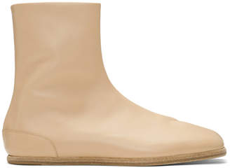 Maison Margiela Beige Flat Tabi Boots