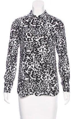 Thakoon Addition Chiffon Leopard Print Blouse w/ Tags
