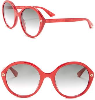 Gucci Round 55mm Sunglasses