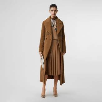 Burberry Shearling Tailored Coat