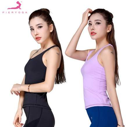 OUTAD Black Pieryoga J71174 Round Collar Sports Vest Crossed Thin Straps On Back Running Tops Quick Drying Clothes For Outdoor Sports