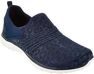 As Is Skechers Leopard Mesh Slip-on Sneakers $36.50 thestylecure.com