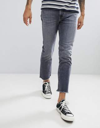 Lee slim rider jeans with fray hem