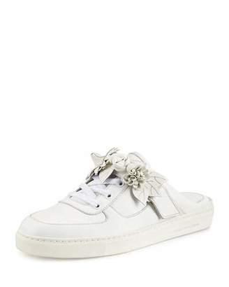 Sophia Webster Lilico Jessie Leather Slide Sneaker, White
