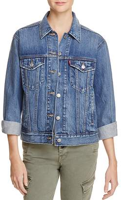 Levi's Ex-Boyfriend Trucker Denim Jacket in Groovemark $89.50 thestylecure.com