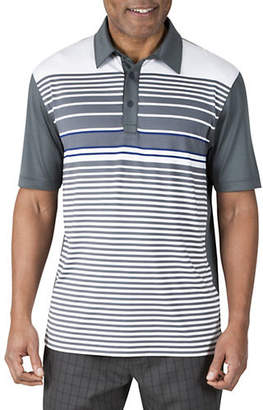 Haggar Short Sleeve Multi Stripe Polo