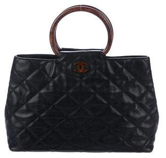 Chanel Quilted Caviar Ring Tote