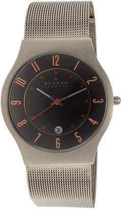 Skagen Men's 233XLTTMO Titanium Grey Dial Watch