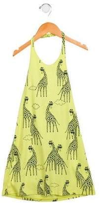 Little Marc Jacobs Girls' Printed Halter Dress