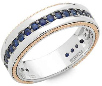 Effy 18K Rose Gold & Silver Sapphire Ring