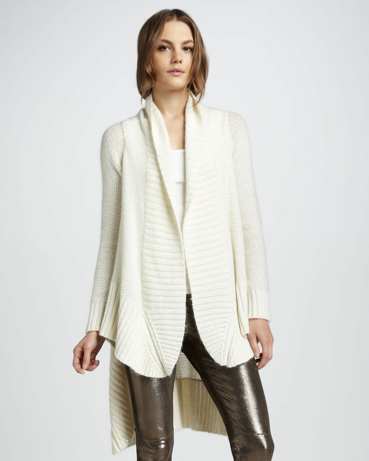Alice + Olivia Colby High-Low Cardigan