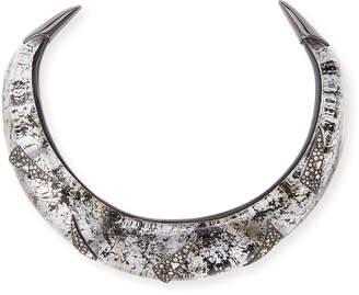 Alexis Bittar Liquid Medium Collar Necklace with Crystal Shard Detail