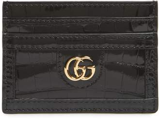 Gucci Ophidia Genuine Crocodile Card Case