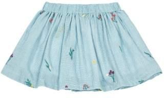 Bonton Sale - Nefertim Embroidered Gingham Skirt