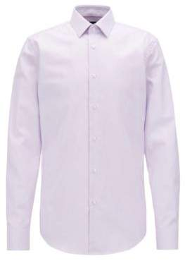 BOSS Hugo Slim-fit shirt in pure Fresh Active cotton 15.5 Light Purple