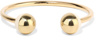 Isabel Marant - Piece On Earth Gold-plated Resin Cuff $230 thestylecure.com