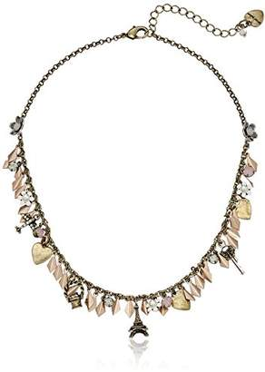 "Betsey Johnson Wanderlust"" Mixed Shaky Charm Necklace"