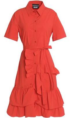 Moschino Ruffle-Trimmed Cotton-Blend Poplin Dress