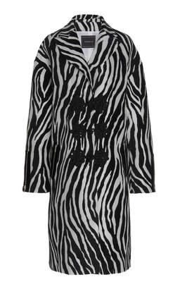 Andrew Gn Zebra Satin Jacquard Coat