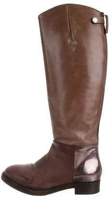 Brunello Cucinelli Metallic-Accented Knee-High Boots w/ Tags