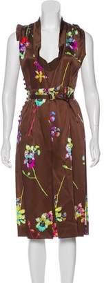 Marc Jacobs Floral Silk Dress