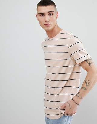 New Look T-Shirt With Stripes In Tan