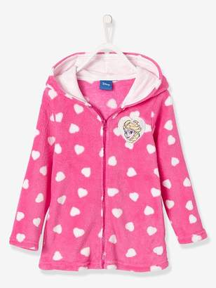 Girls' Short Bathrobe, Frozen® Theme - pink dark all over printed