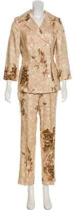 Dolce & Gabbana Double-Breasted Linen Pantsuit