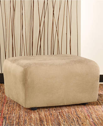 Sure Fit Stretch Faux Leather Ottoman Slipcover