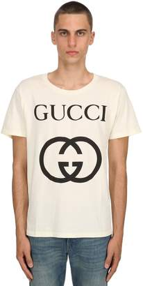 Gucci Logo Cotton Jersey T-Shirt